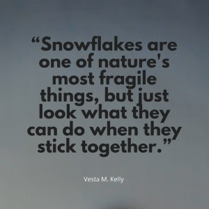 Snowflakes are one of nature's most fragile things, but