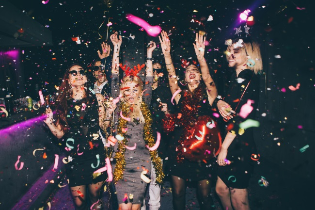 party with confetti
